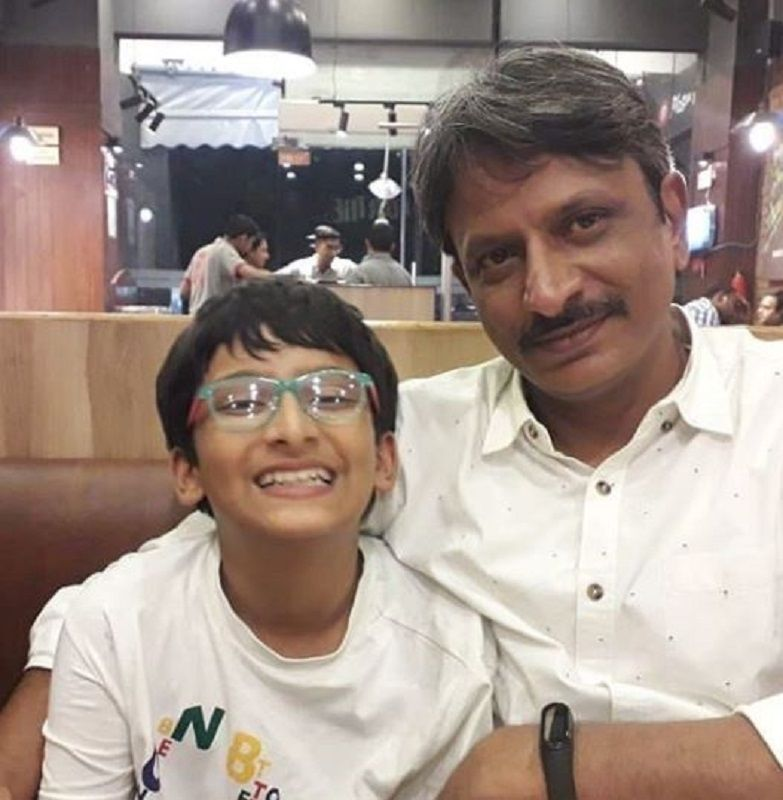 Rajesh Tailang With His Son
