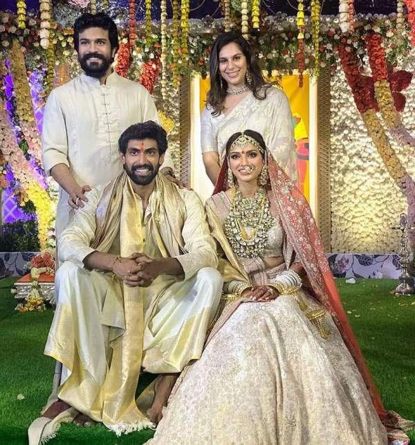 Rana Daggubati and Miheeja Bajaj at their wedding