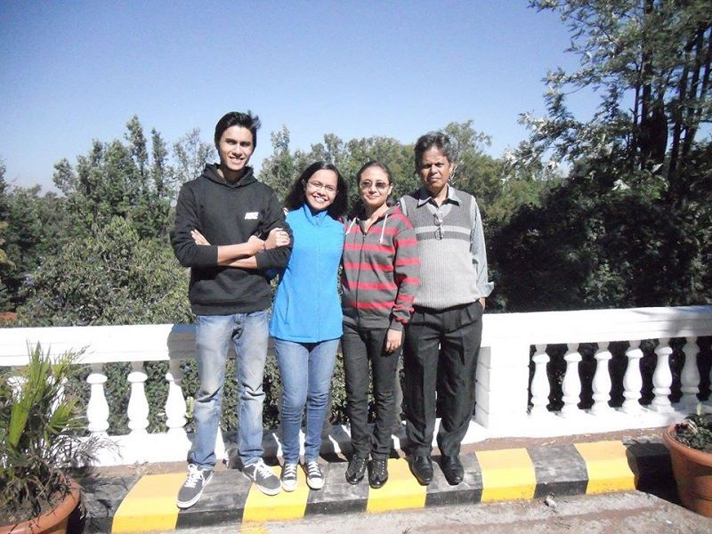 Ritwik Bhowmik With His Family