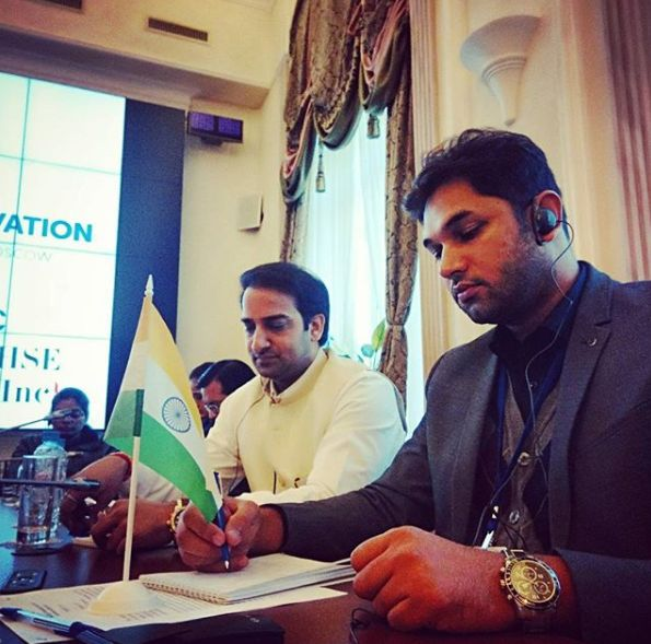 Rohit Saroha representing India at The Civic Chamber of The Russian Federation