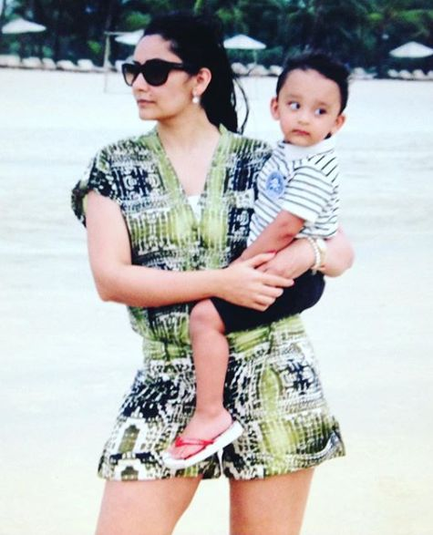 Shahraan Dutt with his mother