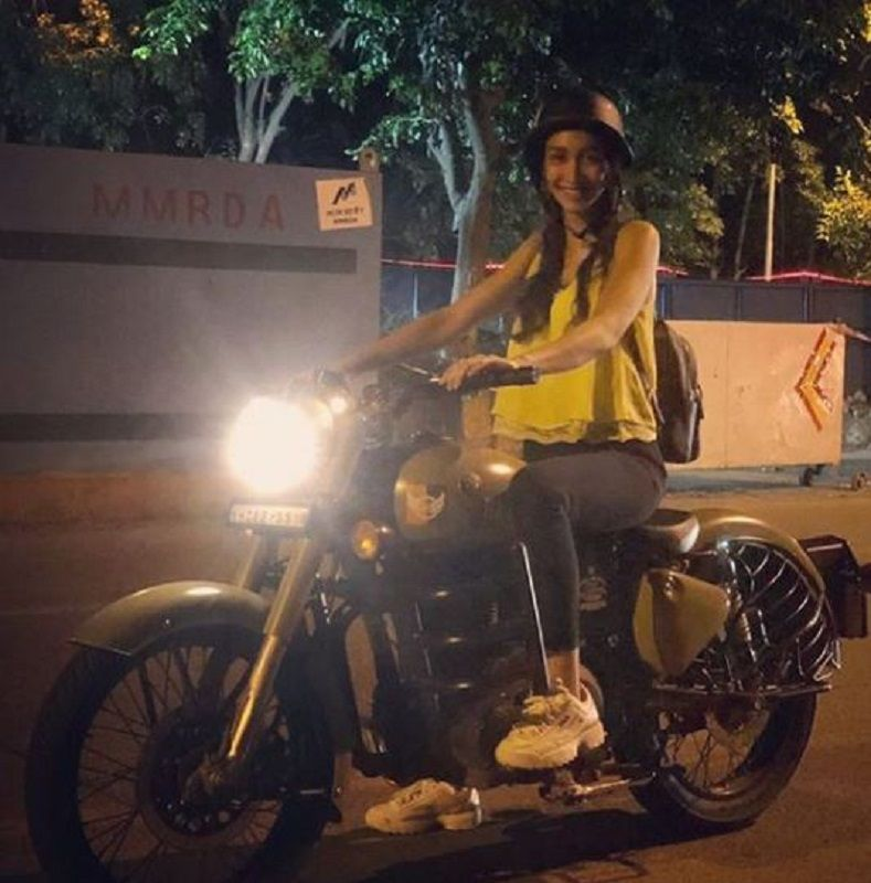 Shreya Chaudhary Riding Her Motorcycle