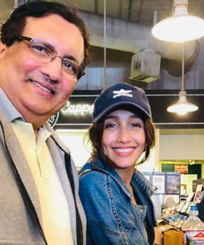Shreya Chaudhary With Her Father