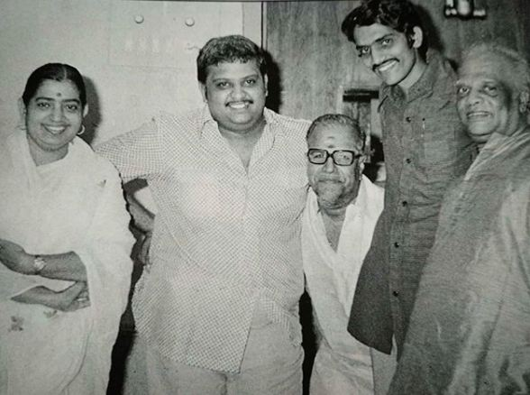 An old picture of S. P. Balasubrahmanyam