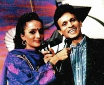 Annu Kapoor with Arunita Mukherjee