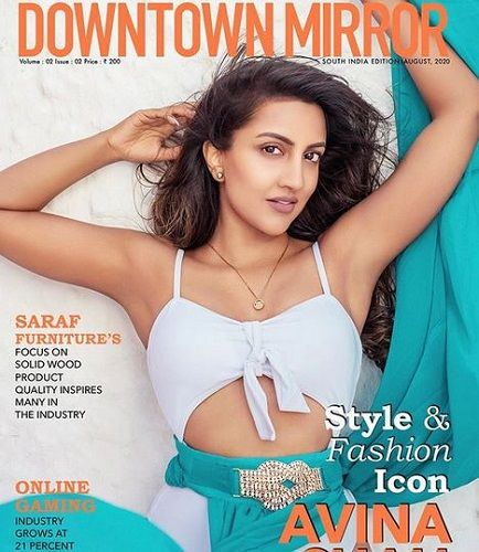 Avina Shah Featured on a Magazine Cover