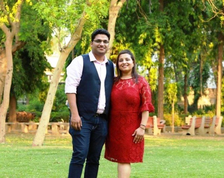 Gaurav Gupta with his wife Ankita Jhalani