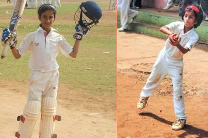 Jemimah Rodrigues childhood pictures of playing cricket