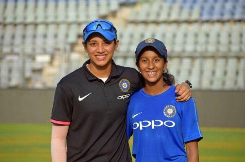 Jemimah Rodrigues with Smriti Mandhana