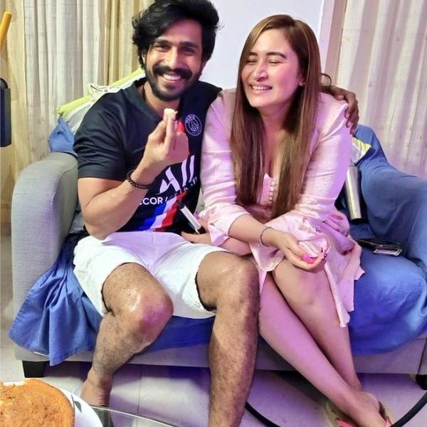 Jwala Gutta with Vishnu Vishal on their Engagement Day