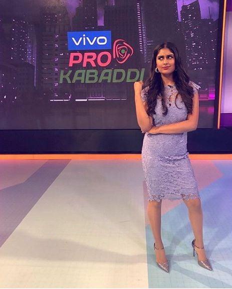 Kira Narayanan hosting Vivo Pro Kabaddi