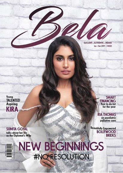Kira Narayanan on the cover of the Bela Magazine