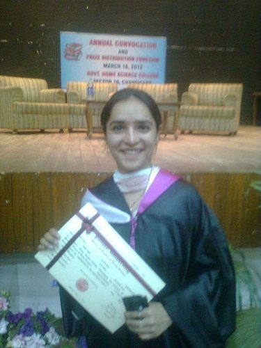 Lavleen Kaur On Her Convocation Day