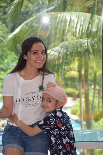 Lavleen Kaur With Her Son