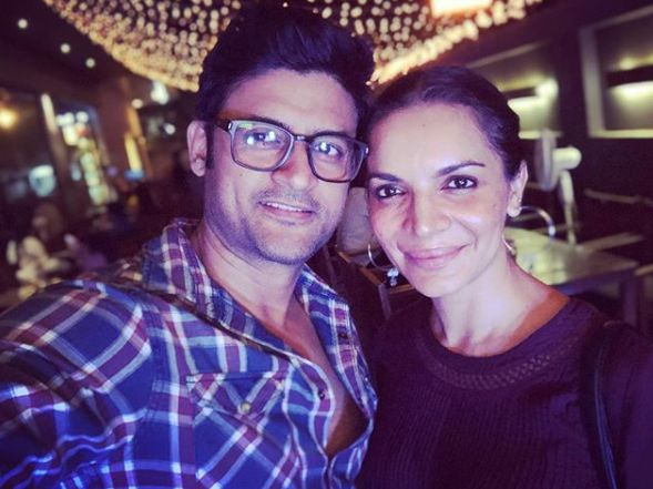 Manav Gohil and his wife