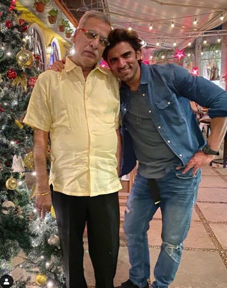 Mohit Malik with his father
