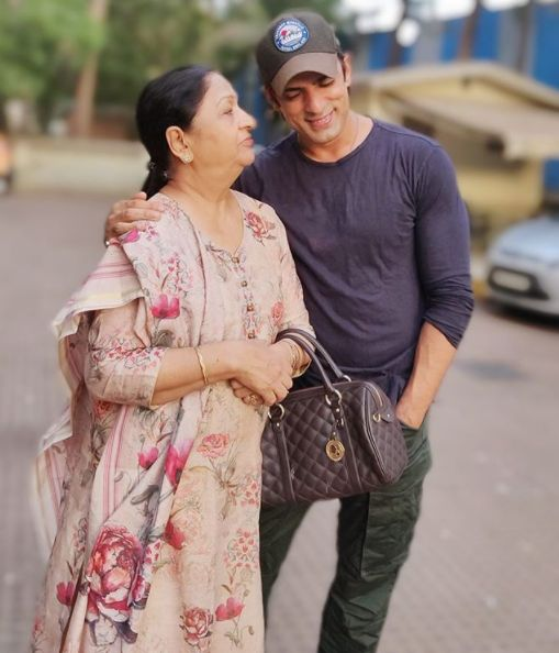Mohit Malik with his mother