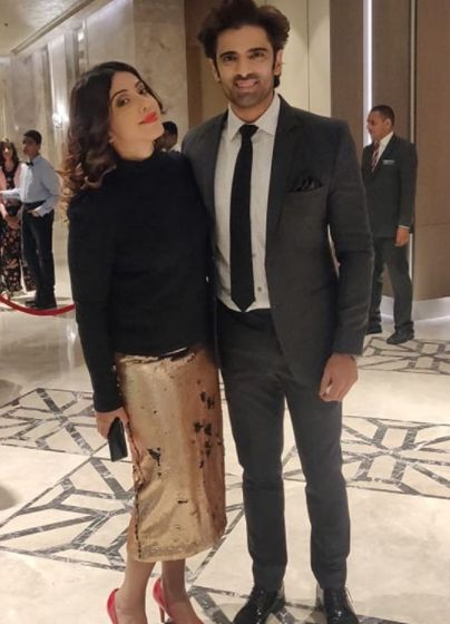 Mohit Malik with his wife