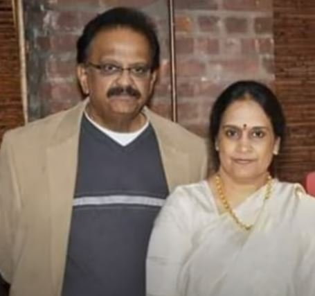 S. P. Balasubrahmanyam with his sister