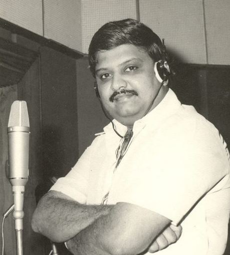 SP Balasubrahmanyam during a song recording