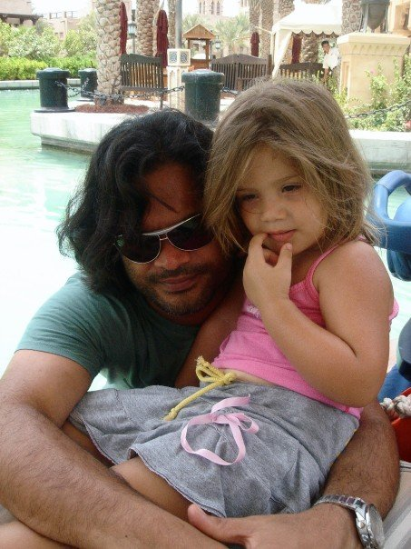 Sam Bombay with his daughter