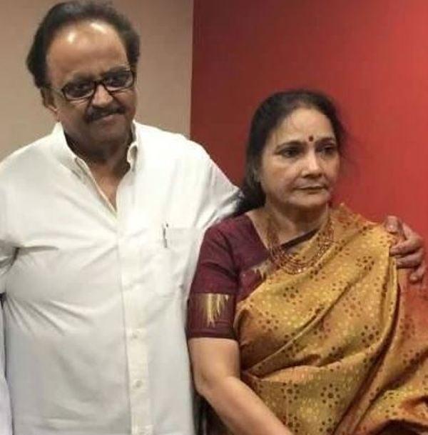 Savithri with her husband S. P. Balasubrahmanyam