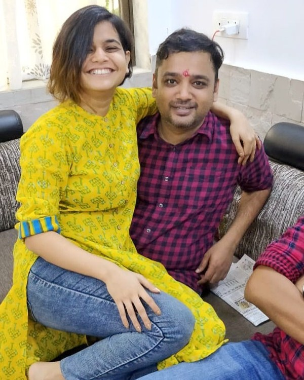 Suhani Shah with her elder brother