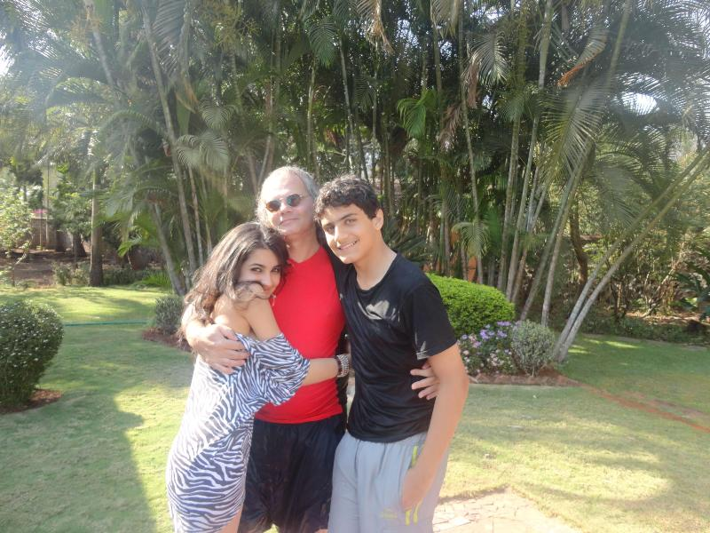 Vedika Pinto with her father and brother