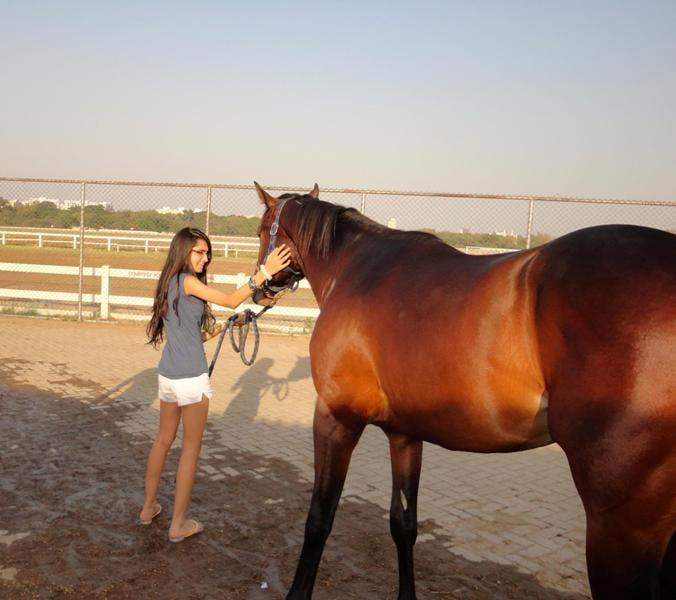 Vedika Pinto's Horse- Bubbles