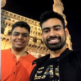 Vivek Mittal with his brother