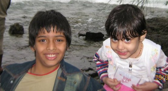 Chirag Falor with her sister