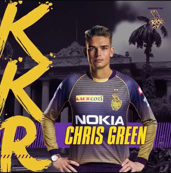 Chris Green plays for Kolkata Knight Riders