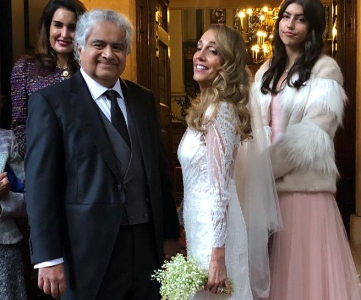 Harish Salve with his second wife Caroline Brossard