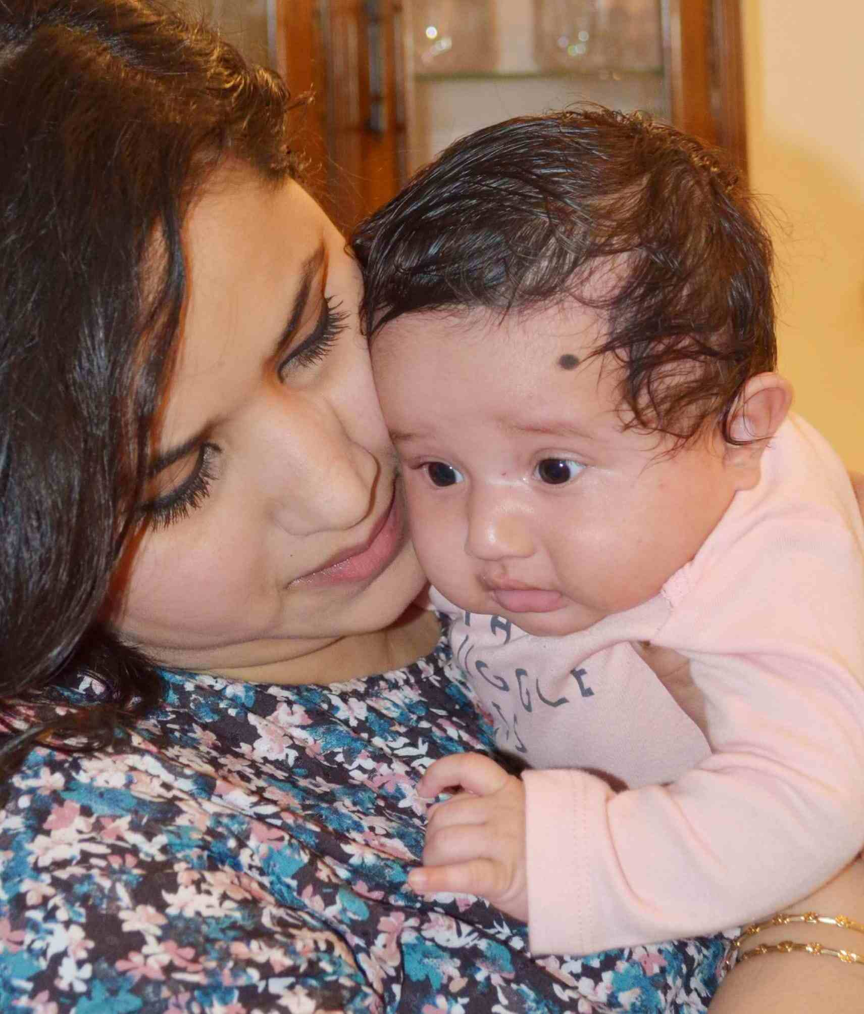 Payal Bhuyan with her daughter