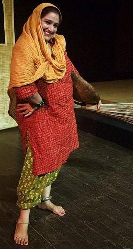 Seema Pahwa in a Theatre Play