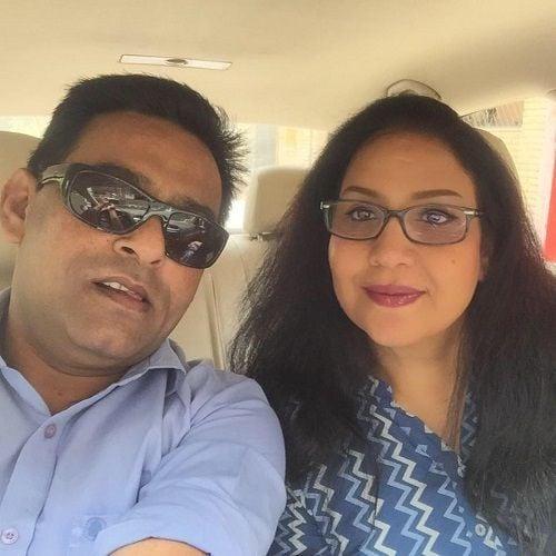 Shams Tahir Khan and His Wife