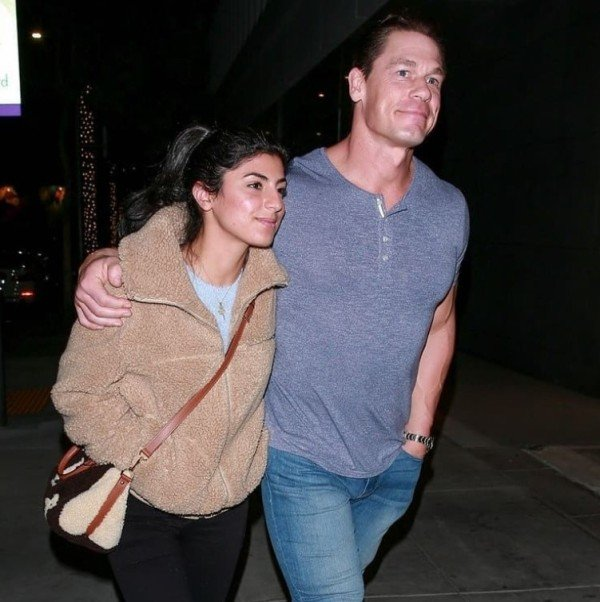 Shay Shariatzadeh and John Cena out during a dinner date