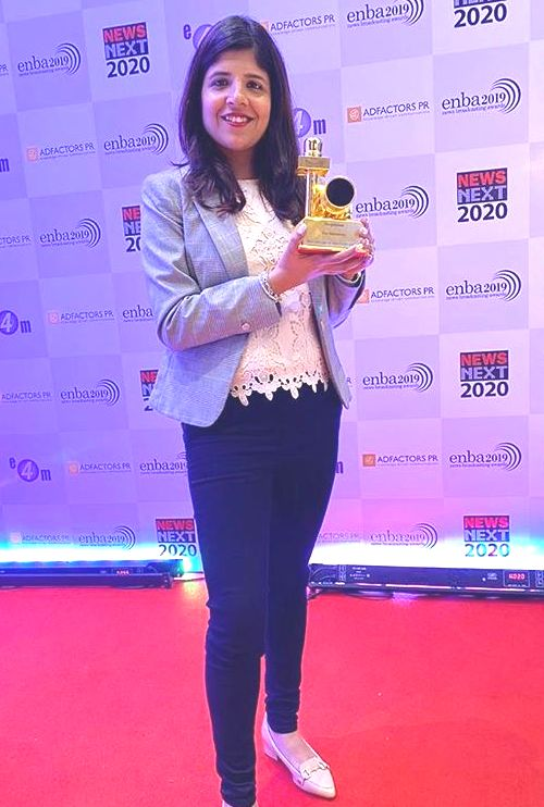 Swati Khandelwal with her award