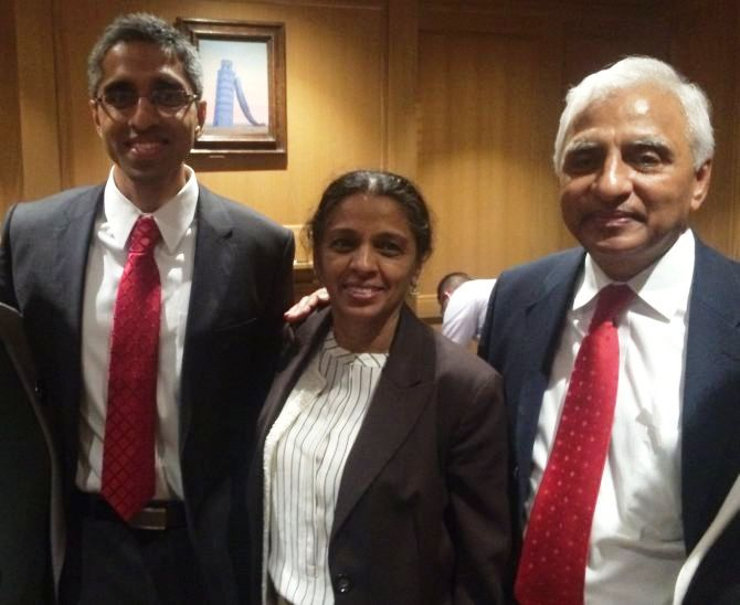 Dr Vivek Murthy with his parents