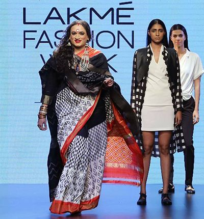 Laxmi Narayan Tripathi Walking the Ramp at Lakme Fashion Week