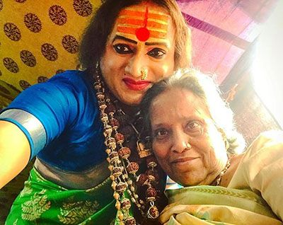Laxmi Narayan Tripathi with her Mother