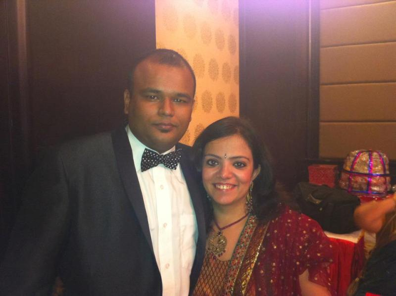 Nishant Tanwar with his wife Rukshi