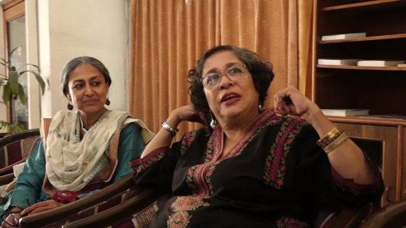 Padamavati Rao with sister Arundathi