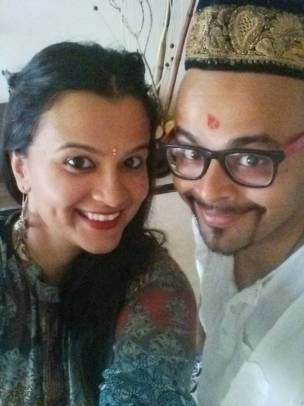Sorabh Pant with his sister