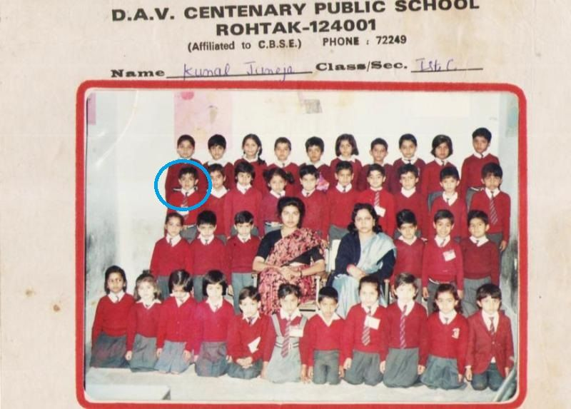 Sumit Anand's childhood school picture
