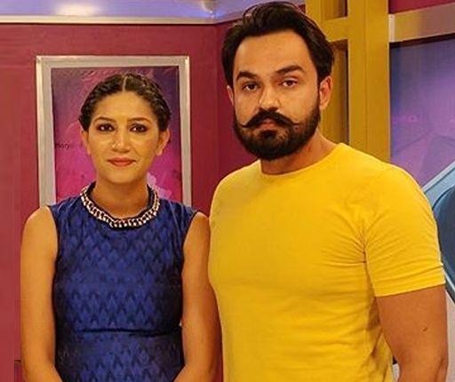 Sapna Choudhary with her husband