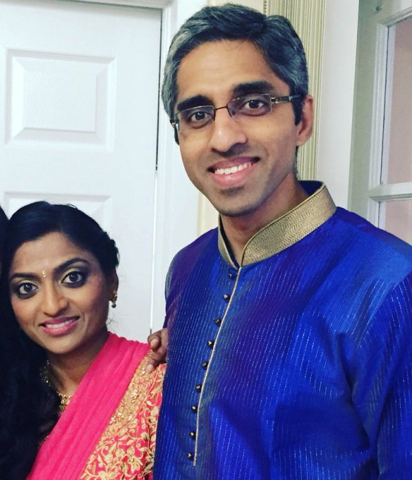 Vivek Murthy and his sister Rashmi Murthy
