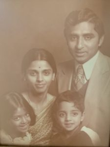 Vivek Murthy in his childhood with his sister and parents