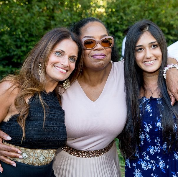 Dr Shefali with her daughter and Oprah Winfrey