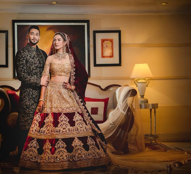 Gauhar Khan and Zaid Darbar wedding photo